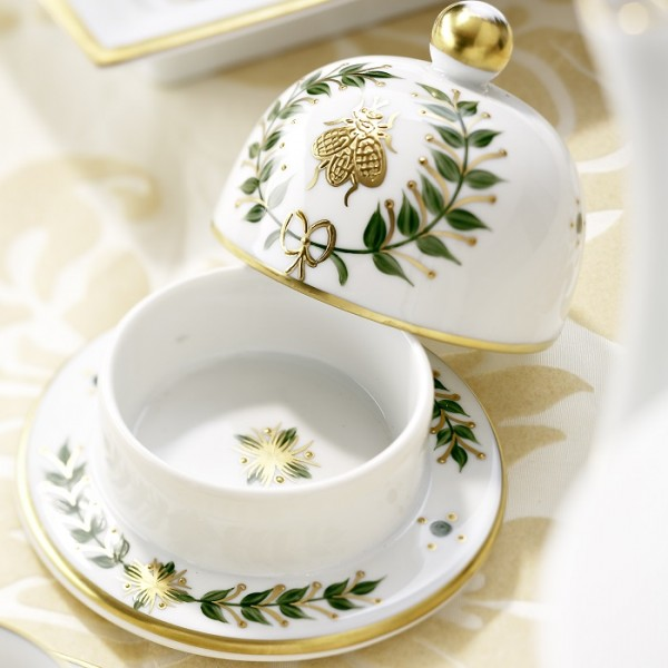 Limoges hand-painted with gold relief - Laure Selignac