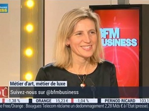 BFM TV France speaks with Alexandra Groussard of Laure Selignac about Fine French Porcelain