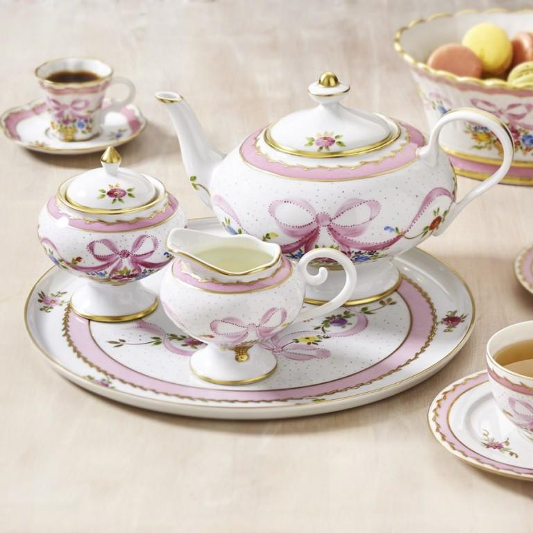 Marie-Antoinette Porcelain Tea Service, Fine French Porcelain Dinnerware